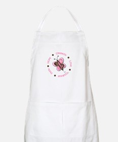 Hope Courage 1 Butterfly 2 PINK BBQ Apron