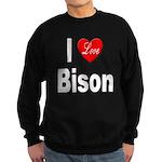 I Love Bison Sweatshirt (dark)