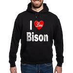 I Love Bison Hoodie (dark)