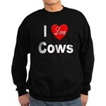 I Love Cows for Cattle Lovers Sweatshirt (dark)