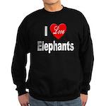 I Love Elephants Sweatshirt (dark)