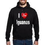 I Love Iguanas Hoodie (dark)