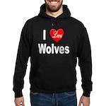 I Love Wolves Hoodie (dark)