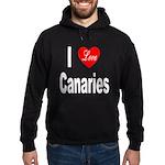 I Love Canaries Hoodie (dark)