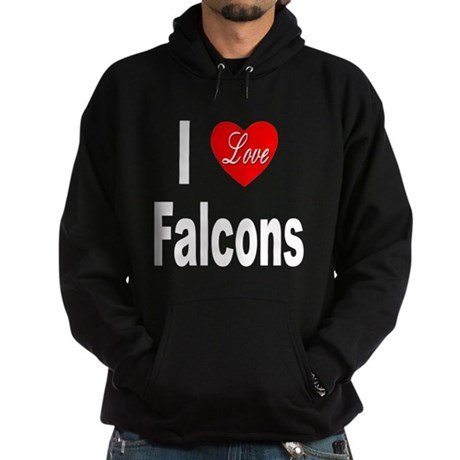 I Love Falcons Hoodie (dark)