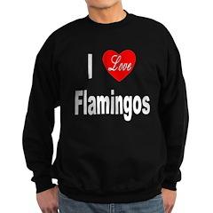 I Love Flamingos Sweatshirt (dark)