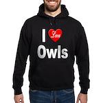I Love Owls Hoodie (dark)