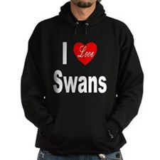 I Love Swans Hoodie