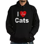I Love Cats for Cat Lovers Hoodie (dark)