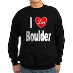 I Love Boulder Sweatshirt (dark)