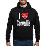 I Love Corvallis Hoodie (dark)
