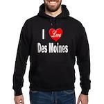 I Love Des Moines Iowa Hoodie (dark)