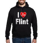 I Love Flint Hoodie (dark)