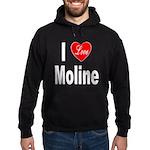 I Love Moline Hoodie (dark)