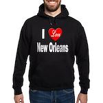 I Love New Orleans Hoodie (dark)