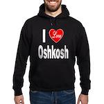 I Love Oshkosh Hoodie (dark)