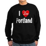 I Love Portland Sweatshirt (dark)