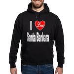 I Love Santa Barbara Hoodie (dark)