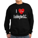 I Love Washington DC Sweatshirt (dark)