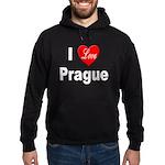 I Love Prague Hoodie (dark)