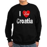 I Love Croatia Sweatshirt (dark)