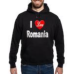 I Love Romania Hoodie (dark)