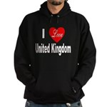 I Love United Kingdom Hoodie (dark)