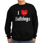 I Love Bulldogs Sweatshirt (dark)