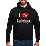 I Love Bulldogs Hoodie (dark)