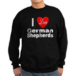I Love German Shepherds Sweatshirt (dark)