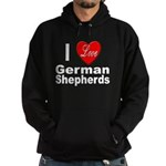 I Love German Shepherds Hoodie (dark)