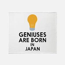 Geniuses are born in JAPAN C2hcg Throw Blanket