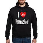 I Love Homeschool Hoodie (dark)