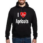 I Love Apricots Hoodie (dark)