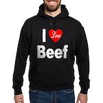 I Love Beef Hoodie (dark)