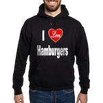 I Love Hamburgers Hoodie (dark)