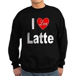 I Love Latte Sweatshirt (dark)