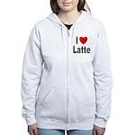 I Love Latte Women's Zip Hoodie