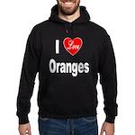 I Love Oranges Hoodie (dark)