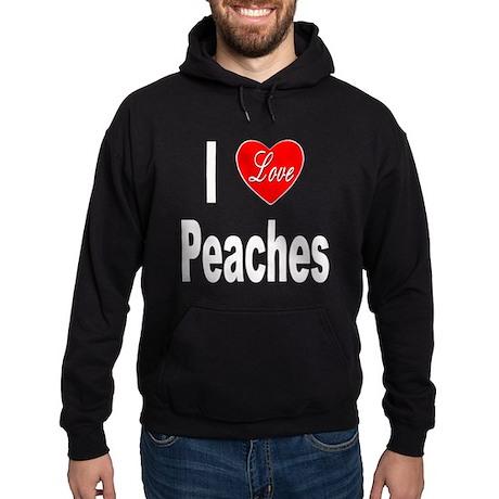 I Love Peaches Hoodie (dark)