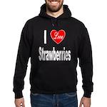 I Love Strawberries Hoodie (dark)