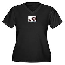 Uncle Chad's Women's Plus Size V-Neck Dark T-Shirt