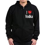 I Love Vodka Zip Hoodie (dark)