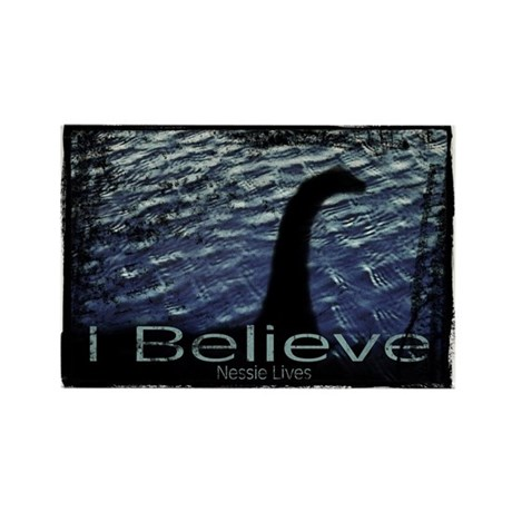 I Believe Nessie Lives Rectangle Magnet (10 pack)