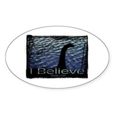 I Believe Nessie Lives Oval Decal