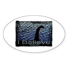I Believe Nessie Lives Oval Stickers