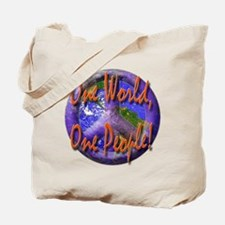 One World, One People Tote Bag
