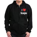 I Love Scorpio Zip Hoodie (dark)