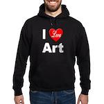 I Love Art Hoodie (dark)