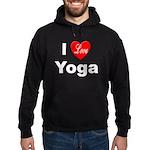 I Love Yoga Hoodie (dark)